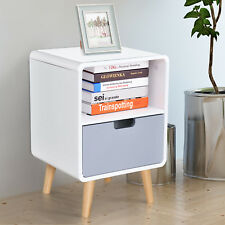 Scandinavian Nordic Style Bedside Table End Nightstand Lamp Desk With Drawer