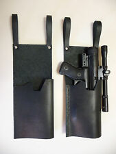 Star Wars Black STORMTROOPER SE-14R LEATHER HOLSTER Prop loops TK fits blaster