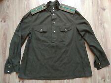 Vintage Soviet Shirt Army USSR Uniform Military Border guard BLOUSE LIEUTENANT