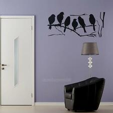 Wall stickers Decal Removable Black Bird Tree Branch Art Home Mural Vinyl Decor