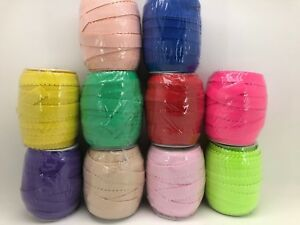 25mm Wide Colour Elastic With Edging. Available in 10 Colours