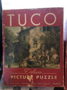 VTG c1930 TUCO DELUXE PICTURE Puzzle Mont Blanc & Home From Market