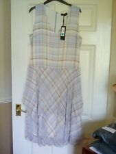 Ladies M&S Autograph Collection layered lined check dress  size 14  BNWT*