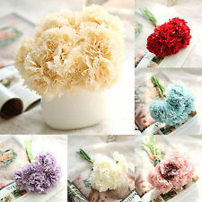 Carnation Artificial Fake Silk Flower Bouquet Wedding Mother's Day Home Decor