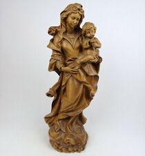 Holzfigur Madonna mit Kind, ROSENMADONNA, Holz geschnitzt alpenländisch Südtirol