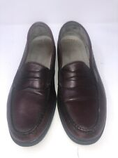Genuine Hand Sewn Mens Penny Loafers By Rock Port M 3587 Sz 10.5
