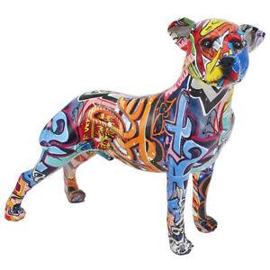 Colourful Graffiti Standing Staffordshire Bull Terrier Staffy Dog Ornament Gift