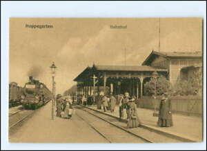 XX13930/ Berlin Hoppegarten Bahnhof mit Eisenbahn  AK ca.1912