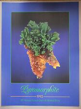 Original 1992 Tucson Gem & Mineral Show Poster PYROMORPHITE