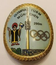 Olympia Turm-Munchen, Germany Stocknagel, Hiking Medallion, Badge, Used GP10-24