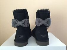 UGG MINI BAILEY KNIT BOW BLACK WOMEN BOOTS USA 7 / EU 38 / UK 5.5 - NIB
