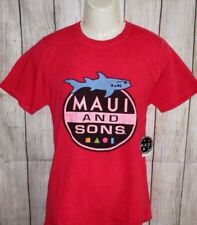 MENS MAUI AND SONS RED T-SHIRT SIZE M