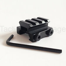 "20mm Weaver / Picatinny Rail 1/2"" Low Riser Mount Base 3 Slot Scope Adapter UK"