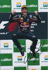 Mark Webber SIGNED Autograph Red Bull Photo AFTAL COA Podium Jump Celebration