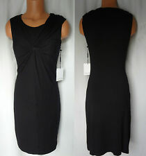 CALVIN KLEIN BLACK STRETCH RUCHED SLEEVELESS DRESS SIZE 4 NEW WITH TAG