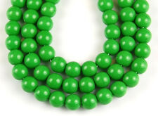 50 Opaque Green Round Druk Pressed Loose Jewelry Making Craft Glass Beads 6mm