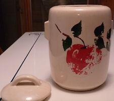 Vintage McCoy Apple Motif Cookie Jar/Canister with over glaze decorations