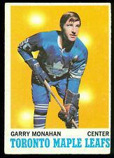 1970 71 TOPPS HOCKEY #112 GARRY MONAHAN EX-NM TORONTO MAPLE LEAFS