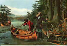 Currier & Ives Reproductions: Hunting Scenes: 'An Early Start' - Fine Art Print