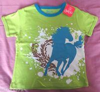 NEW Boys/Girls Deezo Brand Green Horse T-Shirt - Excellent Quality - Size 3
