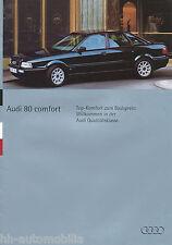 Audi 80 Comfort Prospekt 5/94 car brochure Broschüre 1994 Auto PKWs Autoprospekt