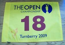 Tom Kite Signed Turnberry 2009 Open Golf Pin Flag Aftal/Uacc Rd