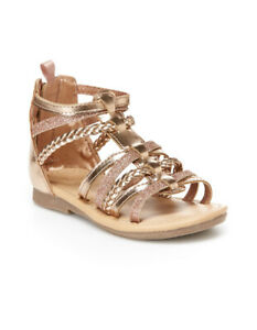 NEW Girls Carters Fenna Toddler Gladiator Sandals, 3 Colors, Sizes 5T-11T