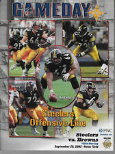 NFL CLEVELAND BROWNS @ PITTSBURGH STEELERS GAMEDAY PROGRAM MAGAZINE 9/29/2002 NM
