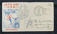 1944 US APO Patriotic WWII Cover to New York City