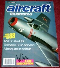 Aircraft Illustrated 1988 January Birmingham Exective,Tinker AFB F-4,Tornado