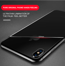 For iPhone X XS 10 10S Thin Clear Cover | Silicone Gel Bumper Protective Case