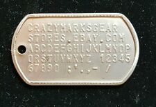 Dog Tag Tags Custom Embossed STAINLESS STEEL USA made by Military Combat Veteran