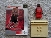 LEGO Basketball - Rare NBA Jalen Rose, Chicago Bulls #5 w/ Card & Stand