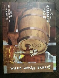 Hammer &  Axe Wood Whiskey Barrel 800ml/27oz Brand New in Box. USPS shipping