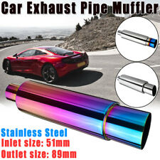 2'' Inlet Universal Car Motorcycle Bike Exhaust Muffler Tail Pipe Tip  II