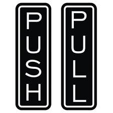 Classic Vertical Push Pull Door Sign