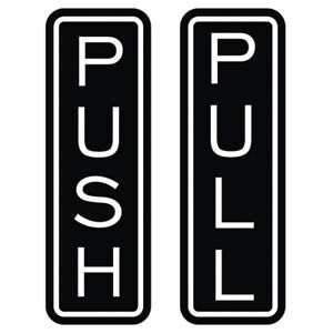 Classic Vertical Push Pull Door Sign