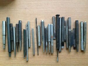 Vintage Punches & Tools From Engineer Watchmakers Clockmakers Collection ref42