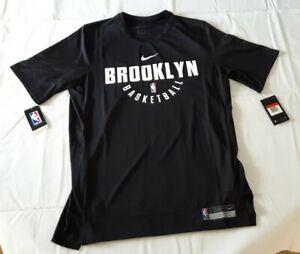 Nike Brooklyn Nets NBA Practice Shooting Shirt Men's Size Large L 877524-010 NWT
