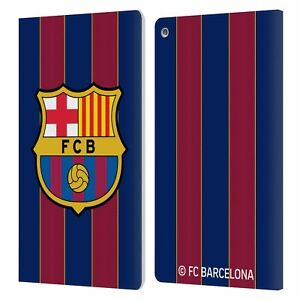 OFFICIAL FC BARCELONA 2020/21 CREST KIT LEATHER BOOK WALLET CASE FOR AMAZON FIRE