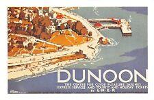 Nostalgia Postcard Dunoon c1930 LNER Railway Advertising Poster Repro Card NS43