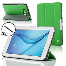 Leather Green Folding Smart Case Cover Samsung Galaxy Tab E Lite 7.0 Stylus