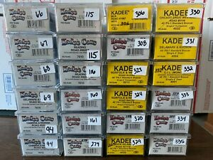 HO SCALE KADEE FREIGHT BOX CAR 2 BAY HOPPER CARS BULK 24 GROUP LISTING