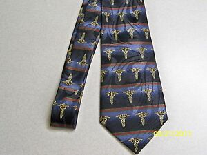 Medical ties Doctors Neckties Doctor Themed Caduceus Mens Neck Tie