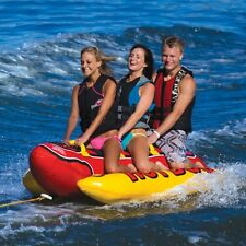 AIRHEAD HD-3 Hot Dog Water Towable Boat Tube Ride Rider 1-3 Person Tubing River