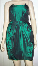 RIVER ISLAND Dark Green Hollywood Strapless Cocktail Prom  Dress Size 8