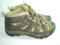 MENS BROWN LEATHER KEEN HIKING BOOTS SNEAKERS ATHLETIC OXFORDS SHOES SIZE 11 M