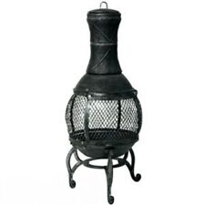 New Rustic Robust structure Garden Cast Iron 90cm Chiminea For outdoor use only.