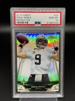 2014 Topps Finest Drew Brees Refractor #24 PSA 10 GEM MT New Orleans Saints