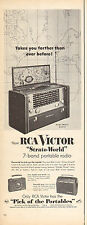 1950s vintage AD RCA VICTOR Strato World 7 band Overseas Radio 062516